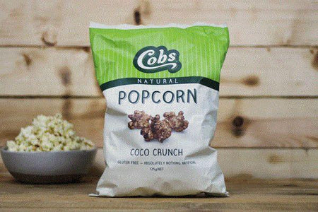 Cobs Natural Coco Crunch Popcorn 125g Pantry > Cookies, Chips & Snacks