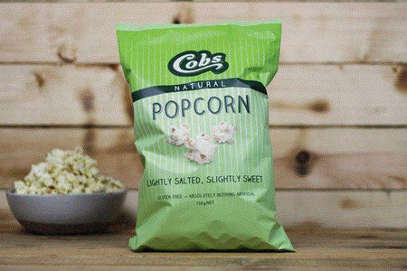 Cobs Natural Lightly Salted, Slightly Sweet Popcorn 120g Pantry > Cookies, Chips & Snacks