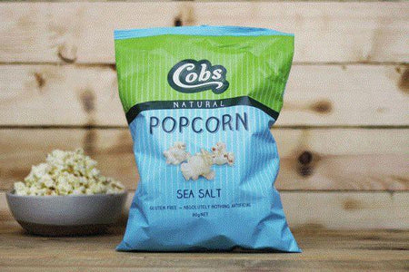 Cobs Natural Sea Salt Popcorn 80g Pantry > Cookies, Chips & Snacks