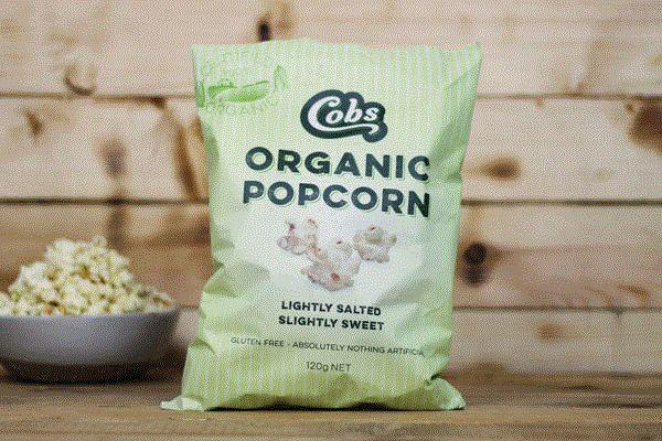 Cobs Organic Lightly Salted, Slightly Sweet Popcorn 120g Pantry > Cookies, Chips & Snacks