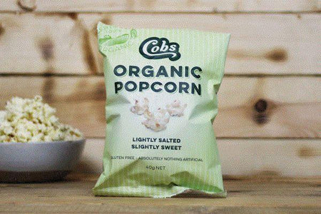 Cobs Organic Lightly Salted, Slightly Sweet Popcorn 40g Pantry > Cookies, Chips & Snacks