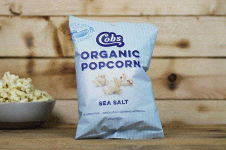 Cobs Organic Sea Salt Popcorn 25g Pantry > Cookies, Chips & Snacks