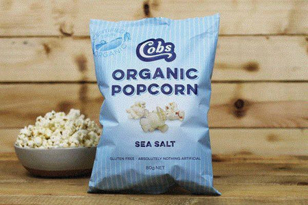 Cobs Organic Sea Salt Popcorn 80g Pantry > Cookies, Chips & Snacks