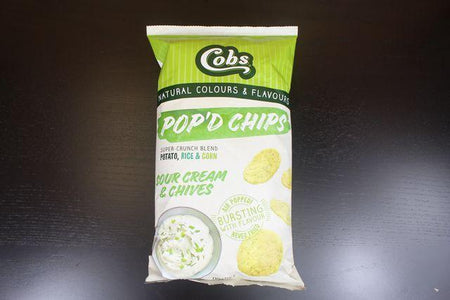 Cobs Pod'd Chips Sour Cream & Chives 110g Pantry > Cookies, Chips & Snacks