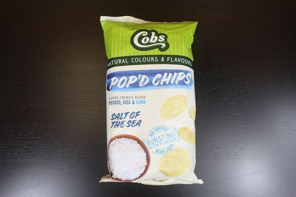 Cobs Pop'd Chips Sea Salt 110g Pantry > Cookies, Chips & Snacks