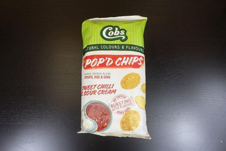 Cobs Pop'd Chips Sweet Chilli & Sour Cream 110g Pantry > Cookies, Chips & Snacks