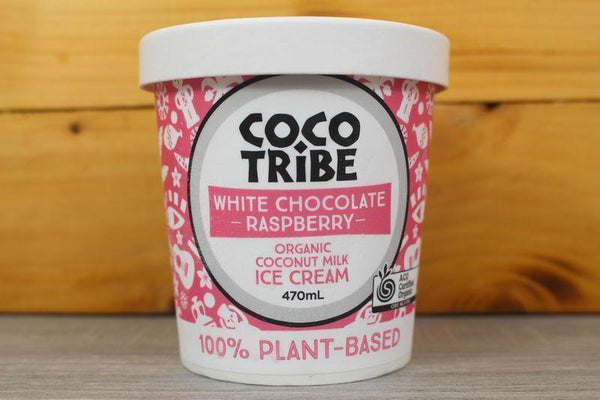 Coco Tribe White Chocolate & Raspberry Ice Cream 470ml Freezer > Ice Cream