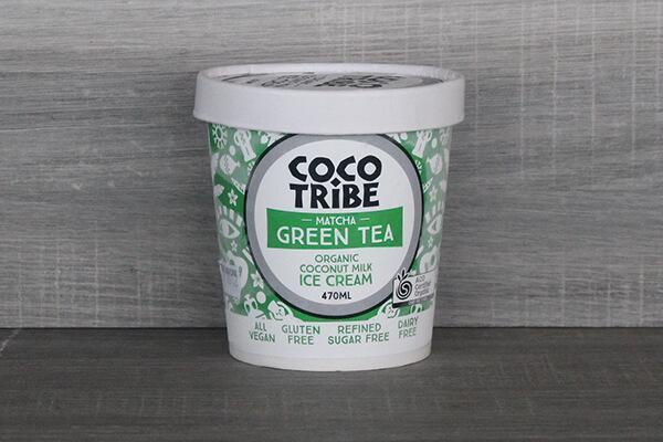 CocoTribe Booza Ice Cream Matcha Green Tea Coconut Ice Cream  470ml Freezer > Ice Cream