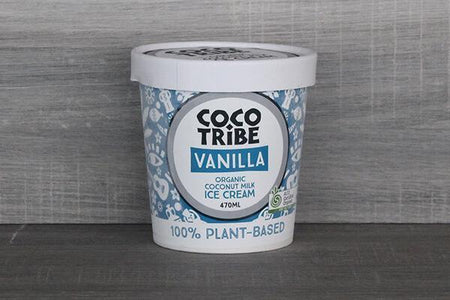 CocoTribe Booza Ice Cream Vanilla Bean Coconut Ice Cream 470ml Freezer > Ice Cream