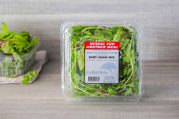 Coolibah Herbs Baby Asian Mix 120g* Produce > Vegetables