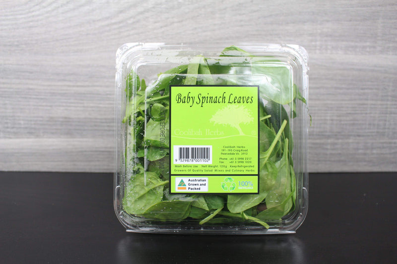 Coolibah Herbs Baby Spinach Leaves - 120g Produce > Vegetables