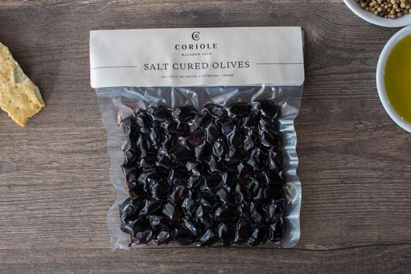 Coriole Salt Cured Kalamata 150g Pantry > Antipasto, Pickles & Olives