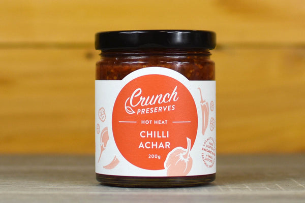 Crunch Preserves Chilli Achar 200g Pantry > Condiments