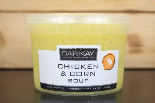Dari's Kitchen Chicken & Corn Soup 550g Pantry > Broths, Soups & Stocks