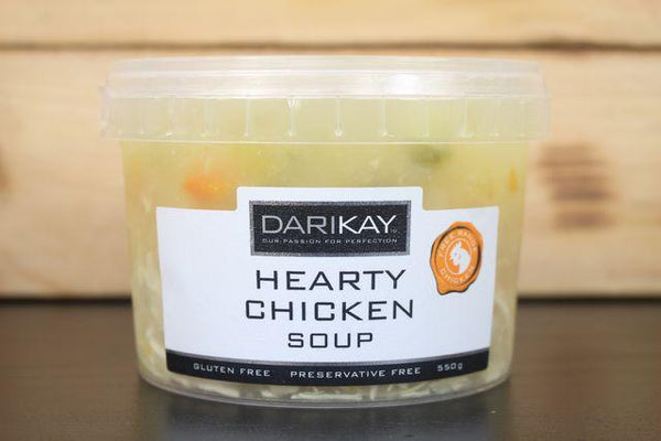 Dari's Kitchen Hearty Chicken Soup 550g Pantry > Broths, Soups & Stocks