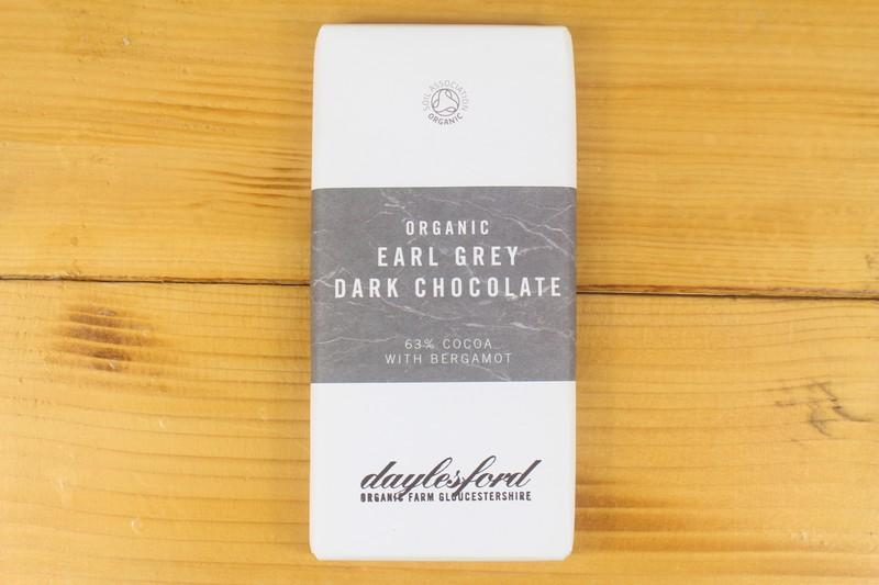 Daylesford Earl Grey Dark Chocolate 75g Pantry > Confectionery