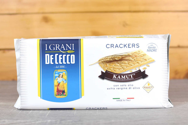 De Cecco Grano Kamut Crackers 250g Pantry > Biscuits, Crackers & Crispbreads