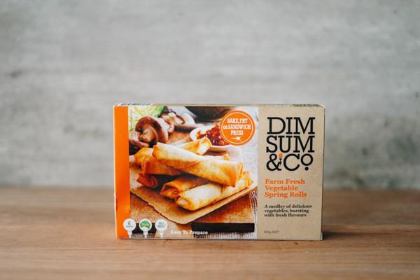 Dim Sum & Co Farm Fresh Vegetable Spring Rolls 8 packs Freezer > Ready-Made Meals