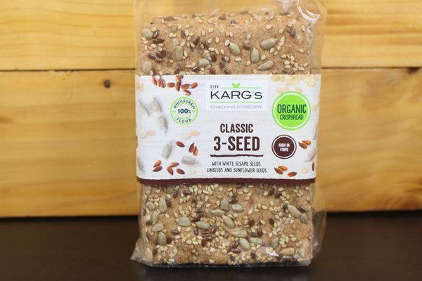 Dr Karg Classic 3 Seed Crispbread 200g Pantry > Biscuits, Crackers & Crispbreads