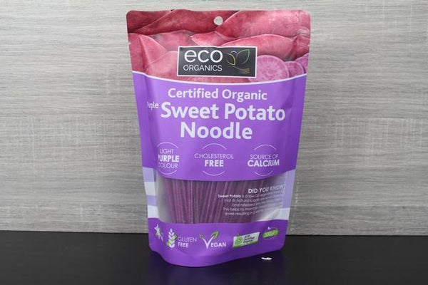 Eco Organics Noodles Sweet Potato Purple 200g Pantry > Fresh Pasta & Noodles