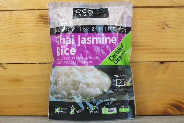 Eco Organics Ready to Eat Thai Jasmine Rice 250g Pantry > Grains, Rice & Beans