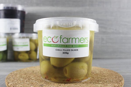 Elegre Chilli Filled Olives 320g Deli > Fresh Antipasto & Olives
