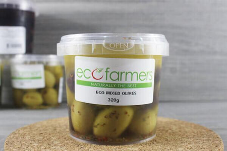 Elegre Eco Mixed Olives 320g Deli > Fresh Antipasto & Olives