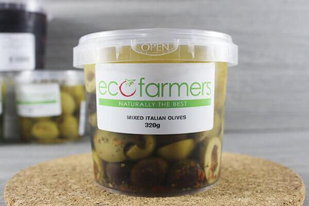 Elegre Marinated Mixed Italian Olives 320g Deli > Fresh Antipasto & Olives