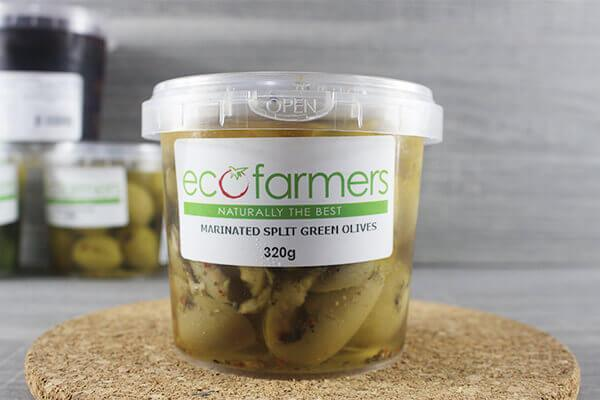 Elegre Marinated Split Green Olives 320g Deli > Fresh Antipasto & Olives