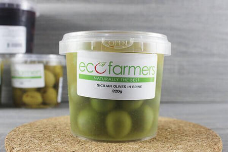 Elegre Sicilian Olives in Brine 320g Deli > Fresh Antipasto & Olives