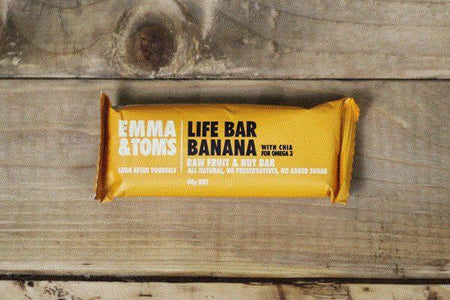 Emma & Tom's Banana with Chia Life Bar 40g Pantry > Granola, Cereal, Oats & Bars