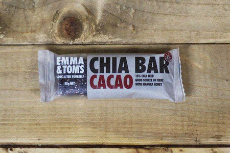 Emma & Tom's Cacao Chia Bar 35g Pantry > Granola, Cereal, Oats & Bars