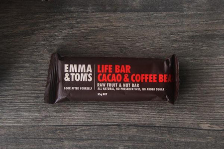 Emma & Tom's Cacao & Coffee Bean Life Bar 35g Pantry > Granola, Cereal, Oats & Bars