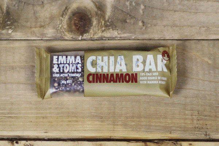 Emma & Tom's Cinnamon Chia Bar 35g Pantry > Granola, Cereal, Oats & Bars