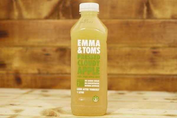Emma & Tom's Cloudy Apple 1L Drinks > Juice, Smoothies & More
