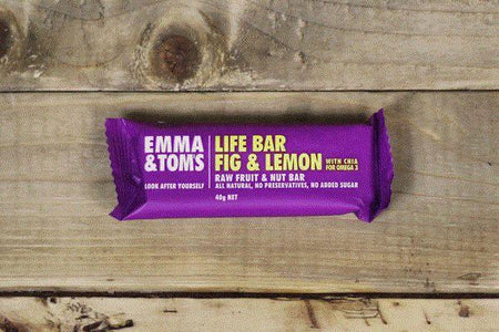 Emma & Tom's Fig & Lemon with Chia Life Bar 40g Pantry > Granola, Cereal, Oats & Bars
