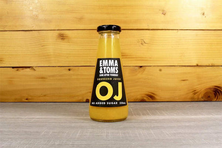 Emma & Tom's Straight OJ 250ml Glass Bottle Drinks > Juice, Smoothies & More