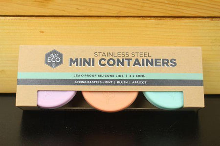 Ever Eco Mini Containers Pastels 3 x 60ml Household > More Household