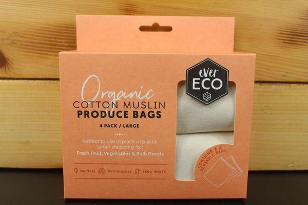 Ever Eco Org Cotton Muslin Produce Bag 4pack Household > More Household