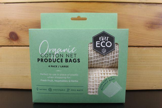 Ever Eco Org Cotton Net Produce Bag 4pack Household > More Household