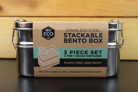 Ever Eco Stackable Bento Box 2 Tier + Mini Container Household > More Household