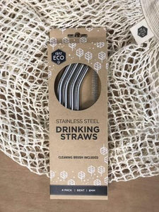 Ever Eco Stainless Steel Straws BENT - 4pk Household > Utensils