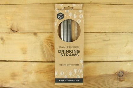 Ever Eco Stainless Steel Straws STRAIGHT - 4pk Household > Utensils