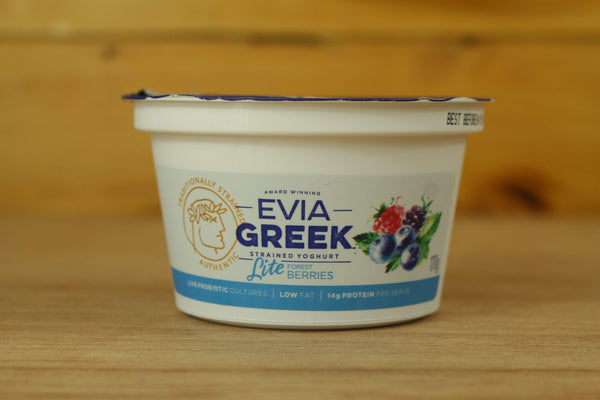 Evia Berries Strained Greek Yoghurt 170g Dairy & Eggs > Yoghurt
