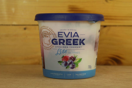 Evia Berries Strained Greek Yoghurt 700g Dairy & Eggs > Yoghurt