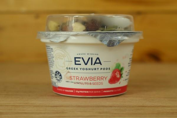 Evia Creamy Natural Strawberry Pods 170g Dairy & Eggs > Yoghurt