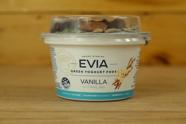 Evia Creamy Vanilla Pods with Trail Mix 170g Dairy & Eggs > Yoghurt
