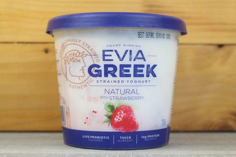Greek Yoghurt Full Cream Natural with Strawberry 170g
