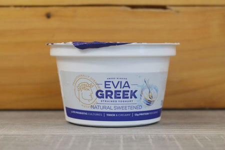 Evia Greek Yoghurt Full Cream Sweetened 170g Dairy & Eggs > Yoghurt