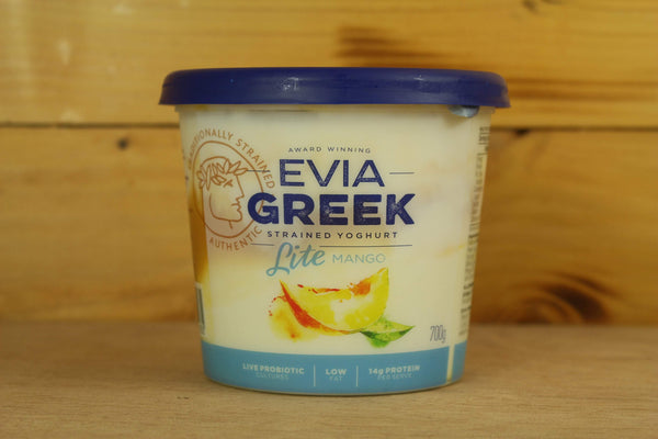 Evia Mango Strained Greek Yoghurt 700g Dairy & Eggs > Yoghurt